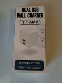 Dual USB wall charger NEW