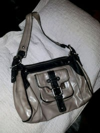 brown and black leather handbag Surrey, V3X 1N2