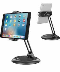 "Nulaxy Tablet Stand, Adjustable Tablet Holder with Heavy Metal Base, Desktop Mount Recipe Holder Stand Compatible with 4-11"" Phones, Tablets, iPad, Nintendo Switch, Surface Go, Kindle Springfield, 22153"