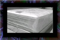 """Full 16"""" double pillowtop mattress with box spring 32 km"""