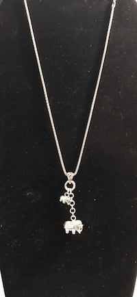 Italian thick Sterling silver chain with elephant and baby Silver Spring, 20904