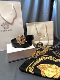 Versace shirt and belt 42 km