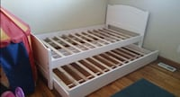 Brand new white wooden trundle bed frame Silver Spring, 20902