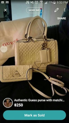 Authentic Guess purse with matching wallet and ano