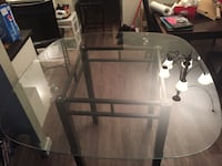 Bar style high square glass kitchen table Winnipeg, R2Y 1Z2