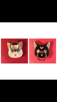 Cartoon Cat With Moon Theme Phone Ring Holder Stands Vancouver, V5X 1A7