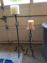Wrought iron candle sticks