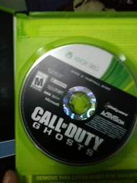 Call of Duty Ghosts Xbox 360 compact disc with case