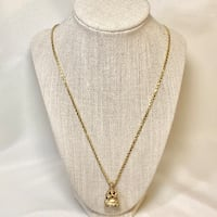 14k Yellow Gold Victorian Watch Fob Pendant & 14k Gold Italian Rope Chain Ashburn, 20147