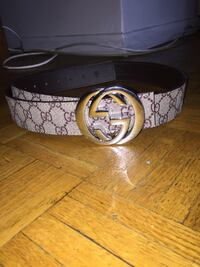 100% Authentic beige Gucci belt with silver buckle size 30-36 Toronto, M4C 5L4