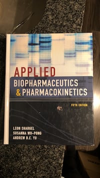 Applied Biopharmaceutica and Pharmacokinetics 5th Edition Toronto, M2J 0B4