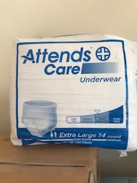 Adult underwear available in medium / large / Extra large $7.00 per box  San Benito, 78586