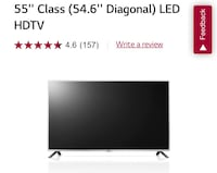 "New, never used 55"" LG LED TV St. Pete Beach, 33706"