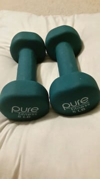 two black and blue dumbbells Germantown, 20876