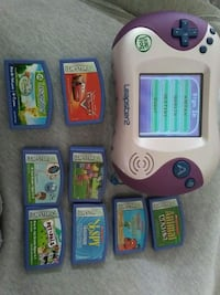 pink and purple Leap Frog Leapster 2 and games  El Paso, 79906