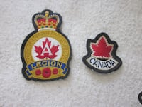 2 Canadian Military Embroidered Patches Winnipeg