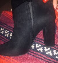 Black suede booties :)