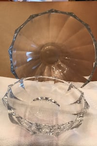 Salad bowl & small plate crystal