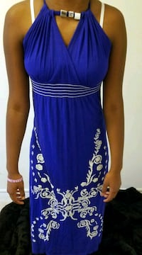 women's blue and white sleeveless dress Richmond Hill, L4E 3N9