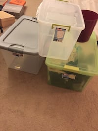 Storage boxes and bin $5 each Fairfax, 22032
