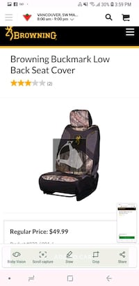 Browning combo pack seat  Surrey, V3W 6R9