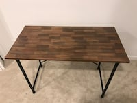 rectangular brown wooden folding table North Vancouver, V7H 2E6
