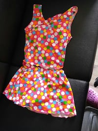 pink and multicolored polka-dot tank-top with skirt Waterloo, N2L 3V2