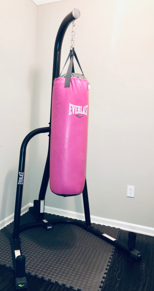 Everlast 80lb Heavy Boxing Bag Kit With Stand