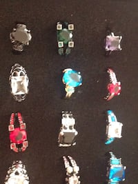 assorted-color with stone ring lot