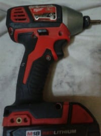 red and black cordless hand drill Vancouver, V6B 1B2