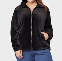 Women's Plus Size Luxe Sherpa Fleece Jacket Alexandria, 22309