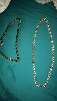 18K Stainless Steal Gold Cuban Linx  New York, 11212