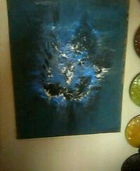 blue and black abstract painting Fresno, 93726