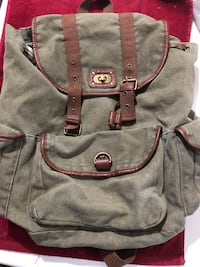 grey and brown backpack Merced, 95340