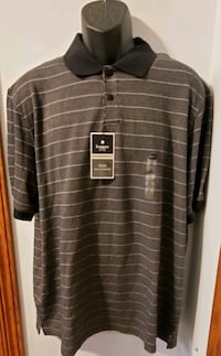 Haggar Short Sleeve Striped New With Tags Collared Polo Shirt Middletown, 21769