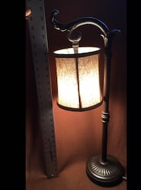 Brushed Bronze Table Lamp in excellent condition