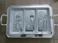 Silver Plated Etched Serving Tray Little Ferry, 07643