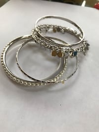 Silver bangles set. With blinking charms  attached Seven Valleys, 17360
