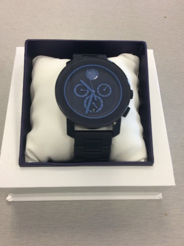 Men's Movado Bold Chronograph Watch - Navy Blue - MINT 1