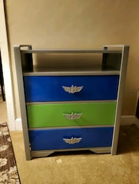 "Child's metal ""buzz light year"" bureau  Oley, 19547"