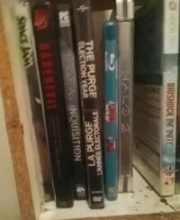 assorted of DVD movie cases