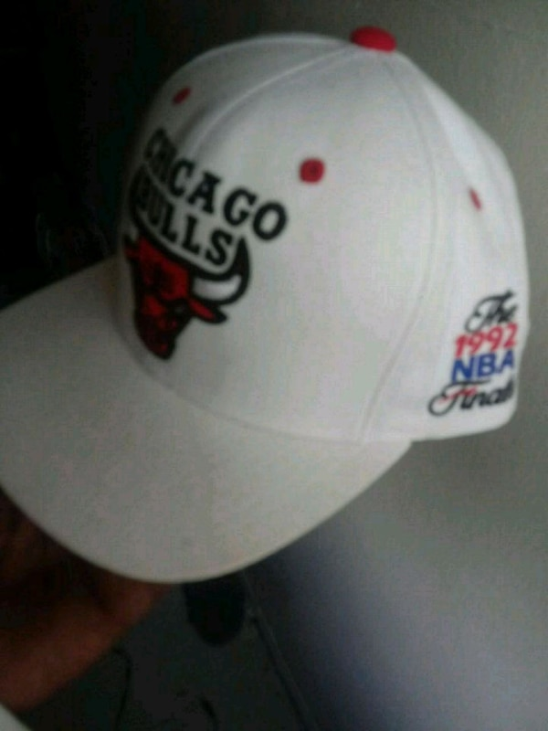 Used white and red printed cap for sale in New York - letgo dce2c3a6c612