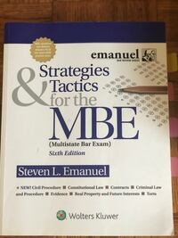 Emmanuel Strategies & Tactics for the MBE Washington, 20015