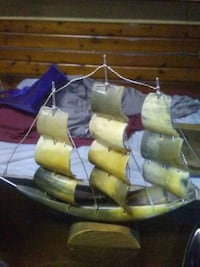 Antique ship (made from horn)