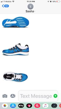 blue-and-white low top sneakers New York, 11375