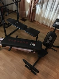 body gym workout bench