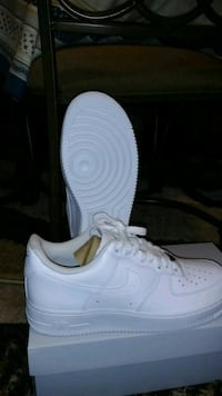 pair of white Nike Air Force 1 low Silver Spring, 20903