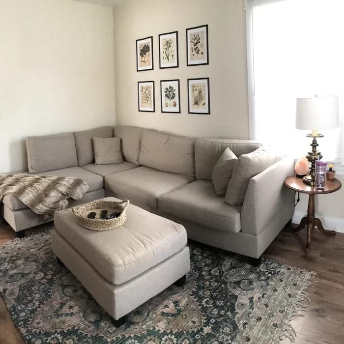 New sectional sofa with ottoman