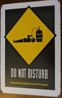 "NEW Man cave - DO NOT DISTURB - metal wall sign ~12x8"" Greenwood Village"