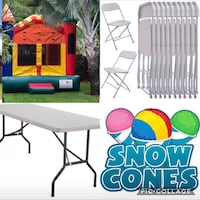 Tables chairs bounce and concession machines  Hialeah, 33012